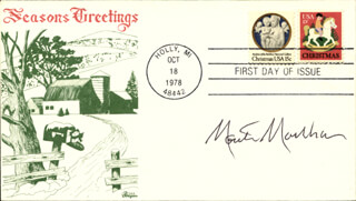 MONTE MARKHAM - FIRST DAY COVER SIGNED