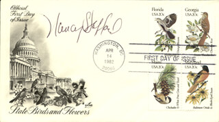 NANCY STAFFORD - FIRST DAY COVER SIGNED