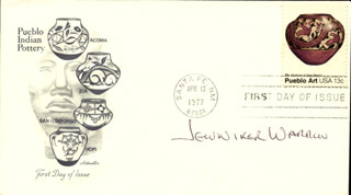 JENNIFER WARREN - FIRST DAY COVER SIGNED