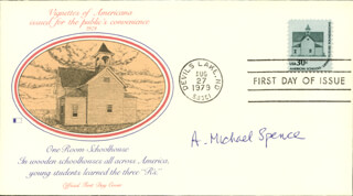 A. MICHAEL SPENCE - FIRST DAY COVER SIGNED