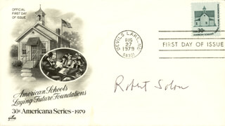 ROBERT M. SOLOW - FIRST DAY COVER SIGNED