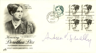 ANDREW V. SCHALLY - FIRST DAY COVER SIGNED