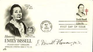 DR. E. DONNALL THOMAS - FIRST DAY COVER SIGNED