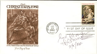 BISHOP DESMOND TUTU - FIRST DAY COVER WITH AUTOGRAPH SENTIMENT SIGNED 02/05/2004