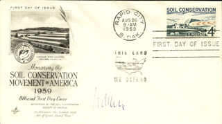 SIMON VAN DER MEER - FIRST DAY COVER SIGNED