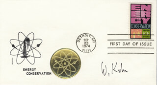 WALTER KOHN - FIRST DAY COVER SIGNED