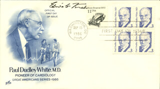 EDWIN G. KREBS - FIRST DAY COVER SIGNED