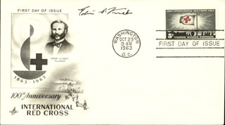 Autographs: EDWIN G. KREBS - FIRST DAY COVER SIGNED