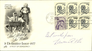 Autographs: LAWRENCE R. KLEIN - FIRST DAY COVER WITH AUTOGRAPH SENTIMENT SIGNED