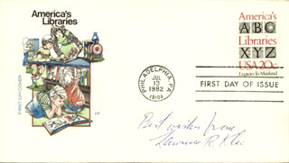 LAWRENCE R. KLEIN - FIRST DAY COVER WITH AUTOGRAPH SENTIMENT SIGNED