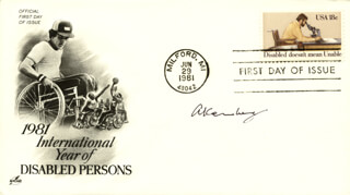 ARTHUR KORNBERG - FIRST DAY COVER SIGNED