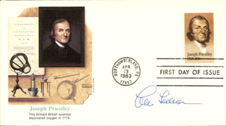 Autographs: LEON LEDERMAN - FIRST DAY COVER SIGNED