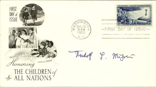 RUDOLF L. MOSSBAUER - FIRST DAY COVER SIGNED