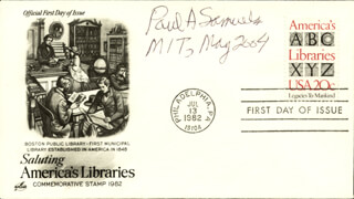Autographs: PAUL A. SAMUELSON - FIRST DAY COVER SIGNED 05/2004