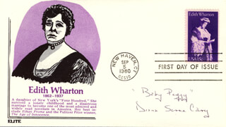 DIANA SERRA BABY PEGGY CARY - FIRST DAY COVER SIGNED