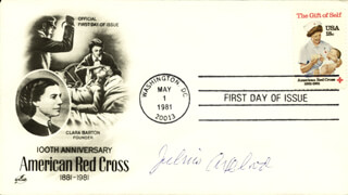 Autographs: JULIUS AXELROD - FIRST DAY COVER SIGNED