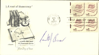 Autographs: KENNETH J. ARROW - FIRST DAY COVER SIGNED