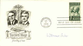 WERNER ARBER - FIRST DAY COVER SIGNED