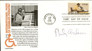 Autographs: PHILIP W. ANDERSON - FIRST DAY COVER SIGNED