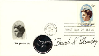 BARUCH S. BLUMBERG - FIRST DAY COVER SIGNED
