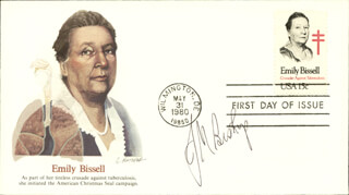 Autographs: J. MICHAEL BISHOP - FIRST DAY COVER SIGNED