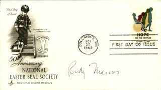 RUDOLPH A. MARCUS - FIRST DAY COVER SIGNED