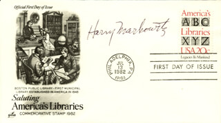 HARRY M. MARKOWITZ - FIRST DAY COVER SIGNED