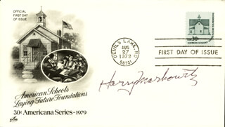 Autographs: HARRY M. MARKOWITZ - FIRST DAY COVER SIGNED