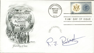 Autographs: RICHARD J. ROBERTS - FIRST DAY COVER SIGNED