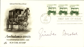 Autographs: GUNTER BLOBEL - FIRST DAY COVER SIGNED