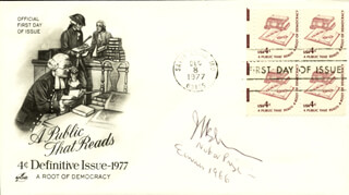 Autographs: JAMES M BUCHANAN, JR - FIRST DAY COVER SIGNED