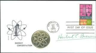 Autographs: HERBERT C. BROWN - FIRST DAY COVER SIGNED