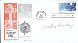 Autographs: NICOLAAS BLOEMBERGEN - FIRST DAY COVER SIGNED