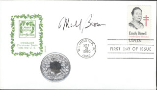 Autographs: MICHAEL S. BROWN - FIRST DAY COVER SIGNED
