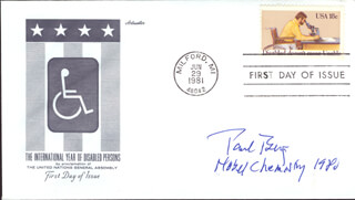 Autographs: PAUL BERG - FIRST DAY COVER SIGNED