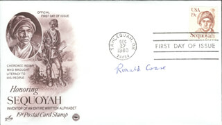 RONALD H. COASE - FIRST DAY COVER SIGNED