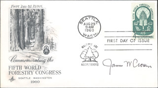 Autographs: JAMES W. CRONIN - FIRST DAY COVER SIGNED