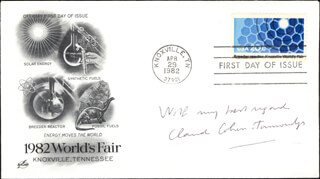 Autographs: CLAUDE COHEN-TANNOUDJI - FIRST DAY COVER WITH AUTOGRAPH SENTIMENT SIGNED