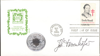 Autographs: JOHANN DEISENHOFER - FIRST DAY COVER SIGNED