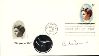 Autographs: CHRISTIAN DE DUVE - FIRST DAY COVER SIGNED