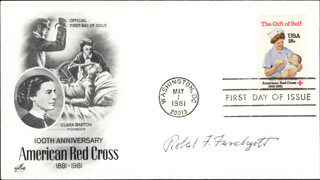 Autographs: ROBERT F. FURCHGOTT - FIRST DAY COVER SIGNED