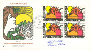 Autographs: VAL L. FITCH - FIRST DAY COVER SIGNED 09/2003
