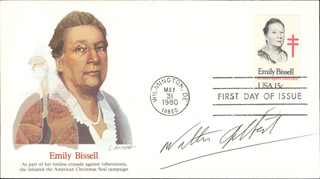 Autographs: WALTER GILBERT - FIRST DAY COVER SIGNED