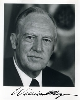 Autographs: WILLIAM P. ROGERS - PHOTOGRAPH SIGNED