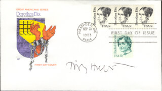Autographs: TIMOTHY HUNT - FIRST DAY COVER SIGNED