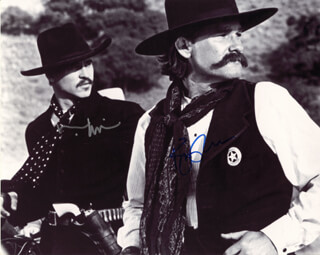 TOMBSTONE MOVIE CAST - AUTOGRAPHED SIGNED PHOTOGRAPH CO-SIGNED BY: KURT RUSSELL, VAL KILMER