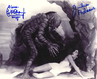 CREATURE FROM THE BLACK LAGOON MOVIE CAST - AUTOGRAPHED SIGNED PHOTOGRAPH CO-SIGNED BY: JULIE ADAMS, BEN CHAPMAN