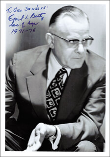 EARL L. BUTZ - AUTOGRAPHED INSCRIBED PHOTOGRAPH