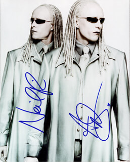 MATRIX RELOADED MOVIE CAST - AUTOGRAPHED SIGNED PHOTOGRAPH CO-SIGNED BY: ADRIAN RAYMENT, NEIL RAYMENT