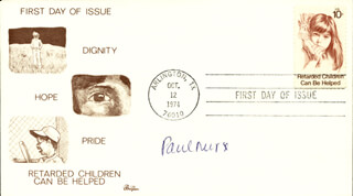 Autographs: SIR PAUL NURSE - FIRST DAY COVER SIGNED